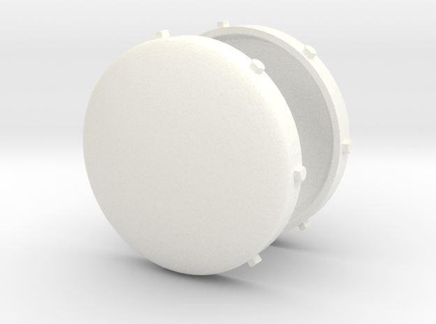 Pipe End Caps in White Processed Versatile Plastic