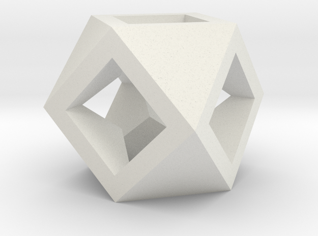 Cuboctahedron - Square Drilled 3d printed