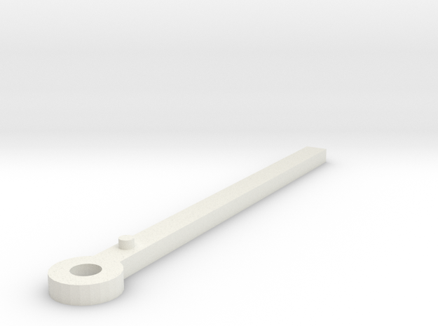 Clock minute hand modelled in Sketchup 3d printed