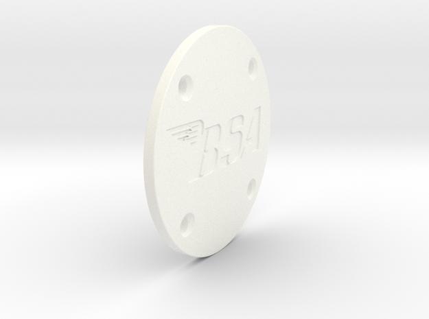 Rotor Cover in White Processed Versatile Plastic