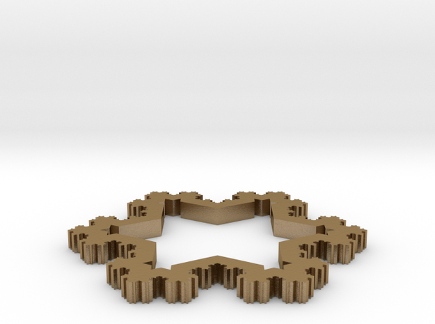 Koch Snowflake Ornament (4th Iteration) 3d printed