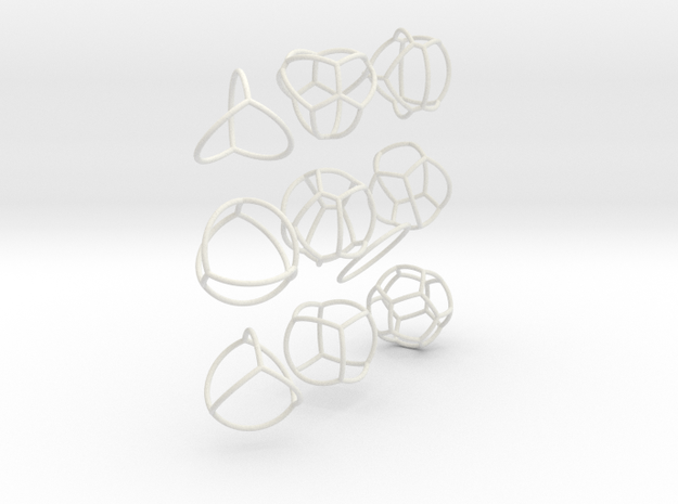 networks on the sphere in White Natural Versatile Plastic
