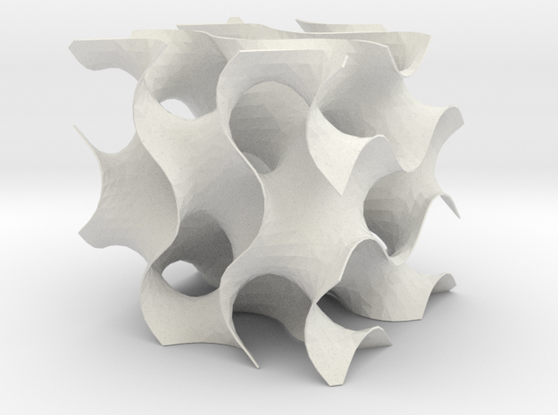 Gyroid med in White Natural Versatile Plastic