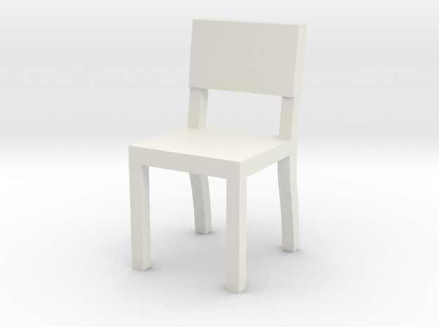 1:48 chair3 in White Natural Versatile Plastic