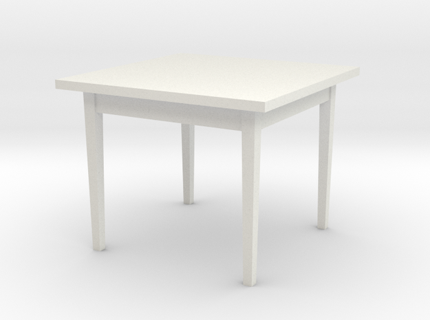 1:24 Table 38x38x30 in White Natural Versatile Plastic