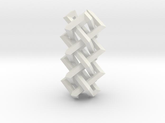 Right-angled Braidwork II in White Natural Versatile Plastic