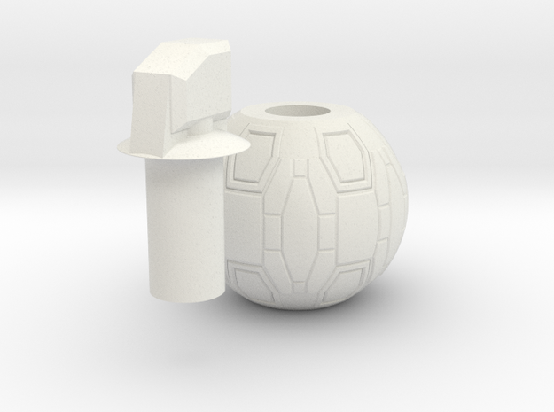M-IX High-Explosive Dual-Purpose grenade (prop) in White Strong & Flexible
