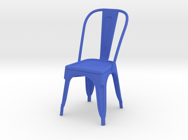 1:12 Pauchard Chair in Blue Processed Versatile Plastic