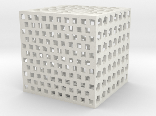 holecube1 in White Natural Versatile Plastic