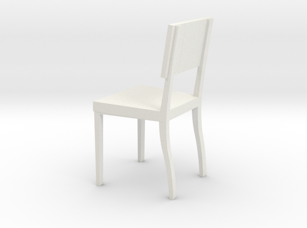 1:24 AngChair 1 in White Natural Versatile Plastic