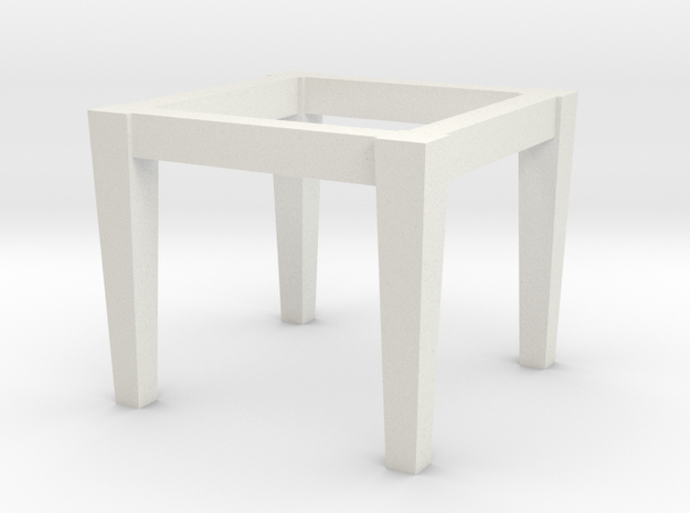 1:48 table base2 in White Natural Versatile Plastic
