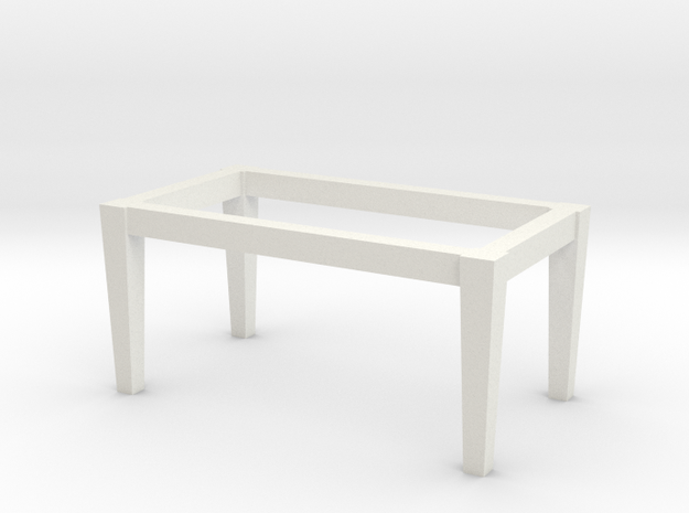 1:48 Table Base in White Natural Versatile Plastic