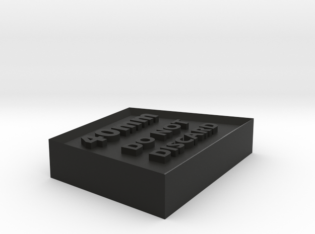 Alignment Block 40mm wide base 3d printed