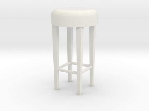 1:24 Stool 2 in White Strong & Flexible