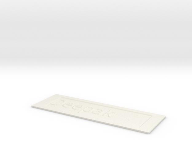 by kelecrea, engraved: Deepak  in White Natural Versatile Plastic