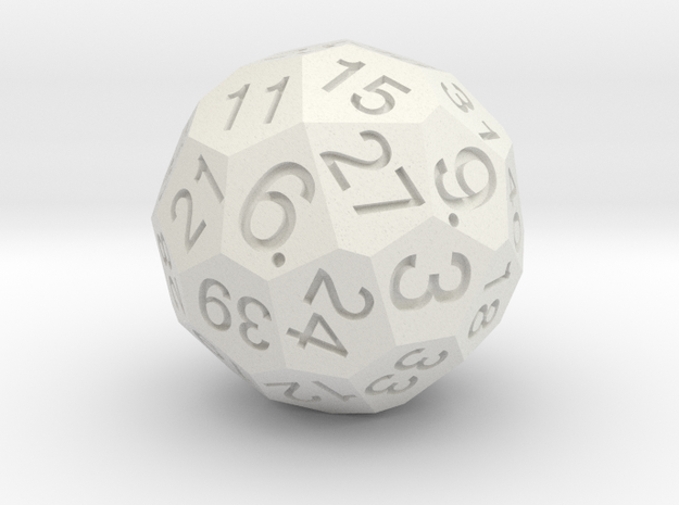 Solid D40 in White Natural Versatile Plastic