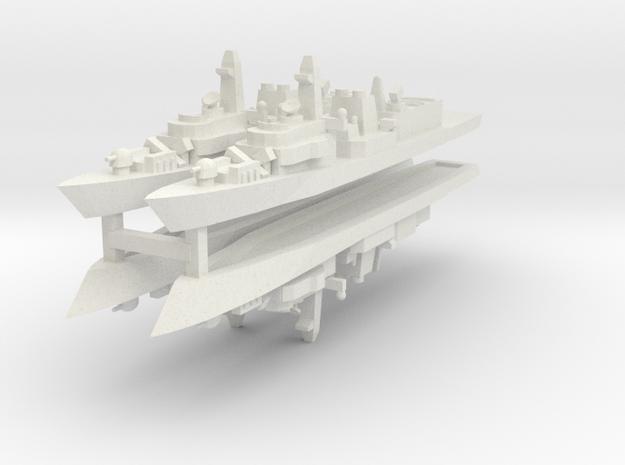 UK Type 23 1:3000 x4 in White Natural Versatile Plastic