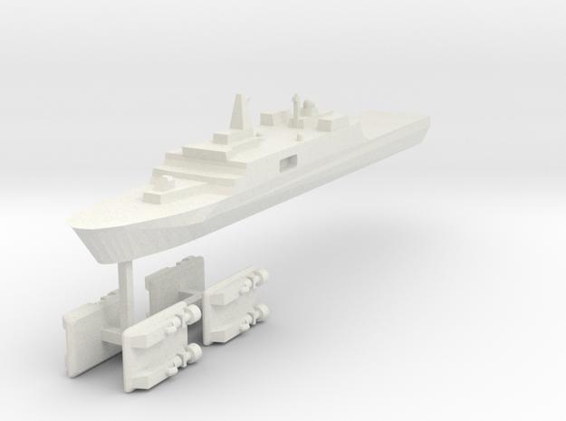 071 PLAN Amphibious Dock V2 + LCACs 1:2400 in White Natural Versatile Plastic