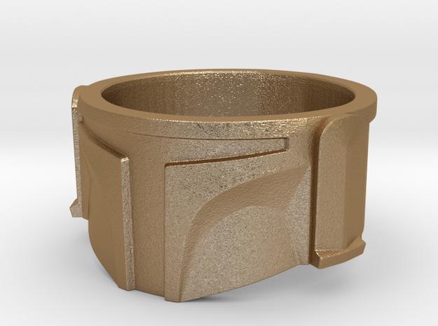 Bounty Hunter Helmet Ring 3d printed