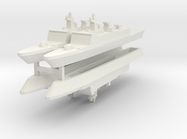 French La Fayette Frigate 1:2400 x4 3d printed