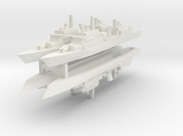 KDX-I 1:3000 x4 in White Natural Versatile Plastic