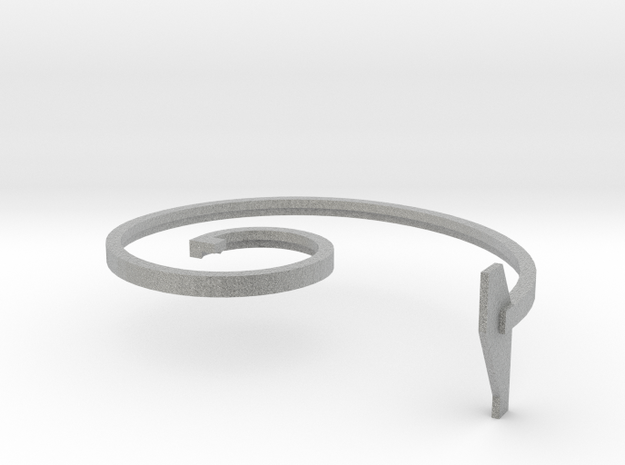 mold part, top, vehicle spring, 2.5 mm 3d printed