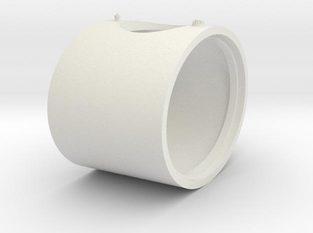 7mm Tank Centre in White Natural Versatile Plastic