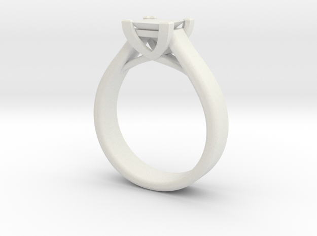 Crossover Ring 7.5 in White Natural Versatile Plastic