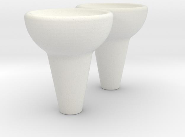 Thumb Gimbal (Lg.) in White Natural Versatile Plastic