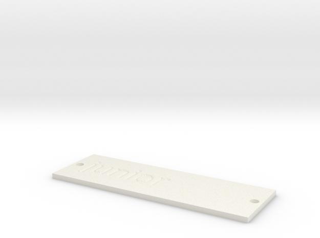 by kelecrea, engraved: junior  in White Natural Versatile Plastic