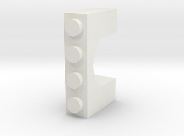 Arabian Window Brick in White Natural Versatile Plastic