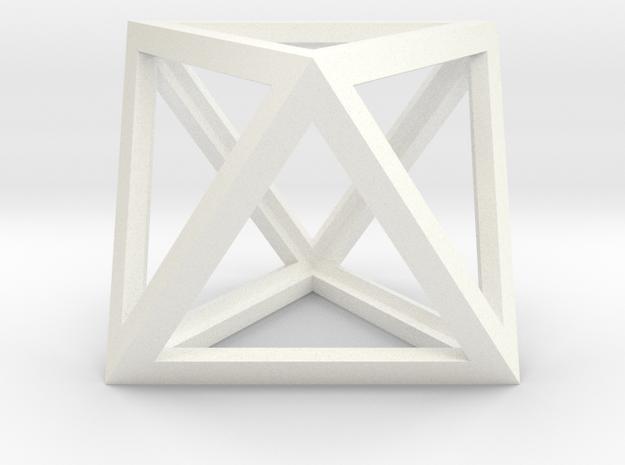 Octahedron in White Processed Versatile Plastic