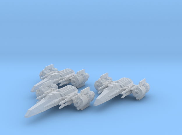 EU Corvan T-4 wing in Smooth Fine Detail Plastic