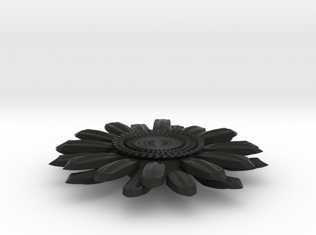 Sunflower Pendant - Bigger Loop 3d printed