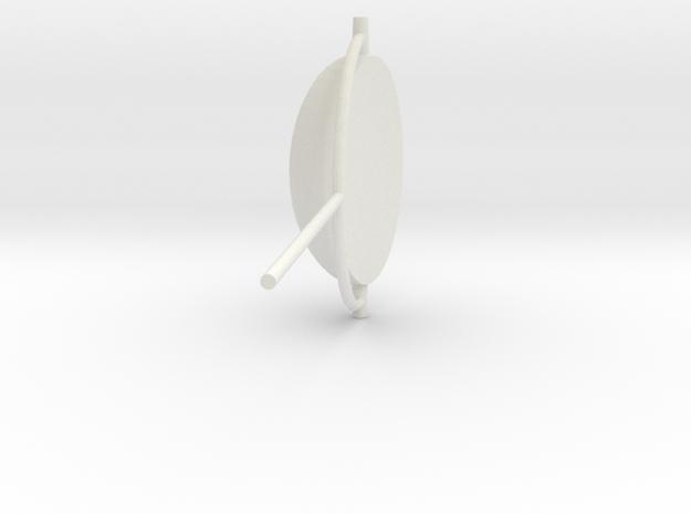 UFO telly in White Natural Versatile Plastic