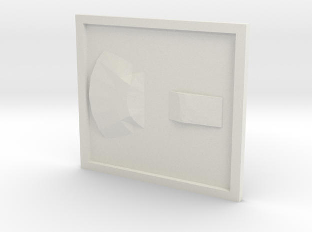 UFO base2 in White Natural Versatile Plastic