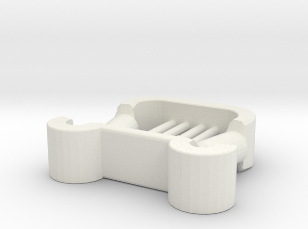 Roman Lyra for Minifigs in White Natural Versatile Plastic
