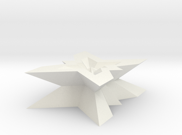 new star form with 5 fold symmetry in White Natural Versatile Plastic