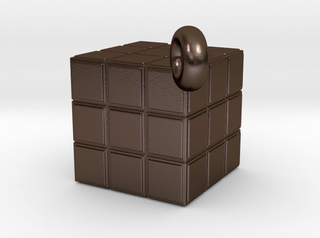 80's icons: Puzzle Cube pendant 3d printed
