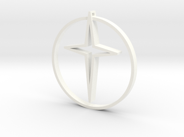 Circle of life cross 45mm 3d printed