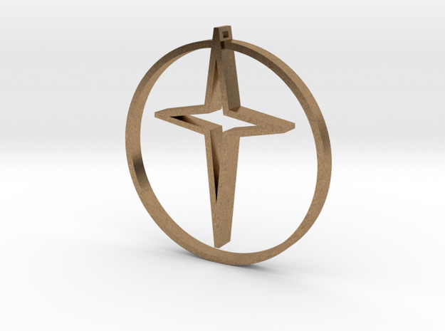 Circle of life cross 40mm 3d printed