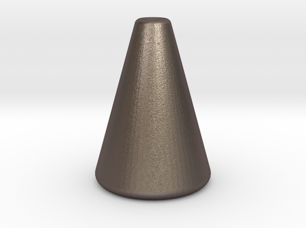 Simple Conical Light Cord Pull in Polished Bronzed Silver Steel