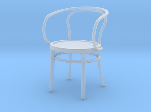 1:24 Thonet Arm Chair (Not Full Size) in Smooth Fine Detail Plastic: 1:12