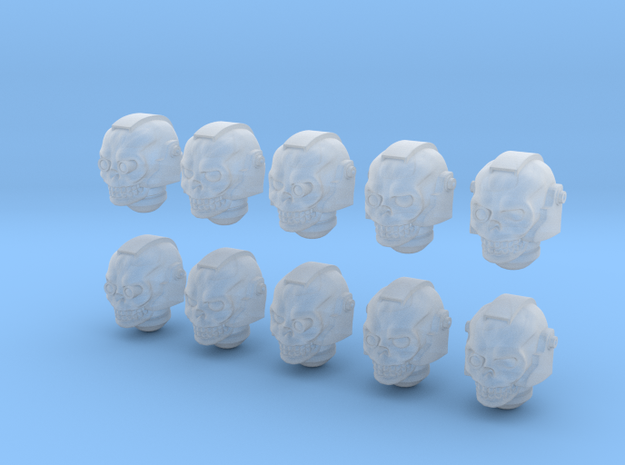 10 28mm Skull Helms Variety in Smooth Fine Detail Plastic