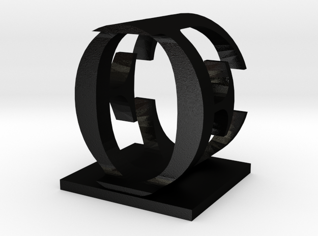 Two way letter / initial E&O 3d printed