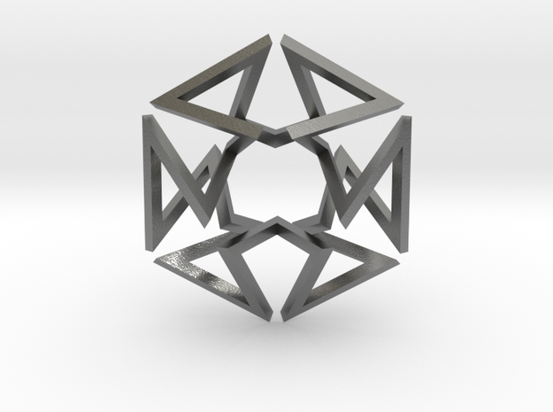 Regular Constant-torsion Polygon (++-++--+--)^3 3d printed