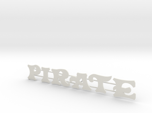 "Schild ""Pirate"" für 1:87 3d printed"