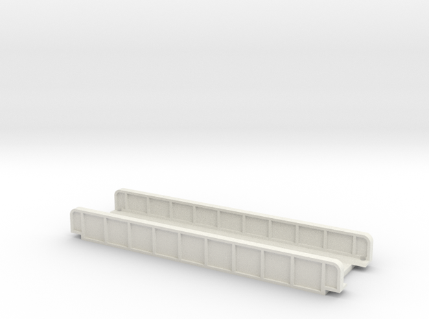 STRAIGHT 110mm SINGLE TRACK VIADUCT in White Natural Versatile Plastic