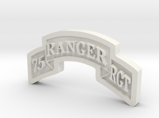 Ranger Scroll (75th Ranger RGMT) 3d printed
