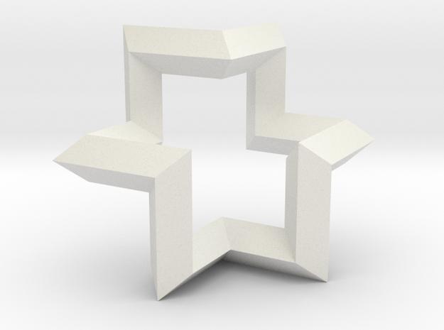Regular Constant-torsion Polygon (++--)^3 in White Natural Versatile Plastic